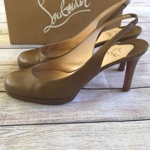 0bf79a41498d Christian Louboutin Shoes - Christian Louboutin Horatio Sling 90 Leather  Heels